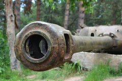 Tank main gun Stock Photography