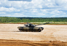 Tank on a march Stock Photography