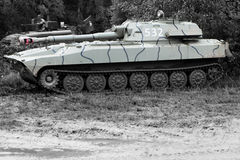 Tank at a military show BW Stock Images