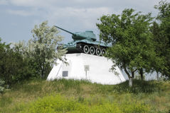 the tank. tank. the militatank. the military monument, the tank which visited fight Royalty Free Stock Photography