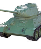 The tank model. T - 34 on white background Stock Image