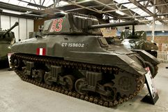 BOVINGTON, ENGLAND -12 March 2013- Established in 1947, the Tank Museum in Bovington, Dorset, displays a collection of armored fig Royalty Free Stock Photo