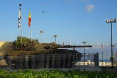 Tank, museum exhibit stock image