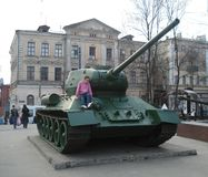 Tank. On museum of history Kharkiv royalty free stock images
