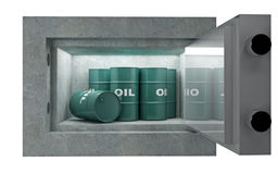 Tank oil and safety box Royalty Free Stock Photo