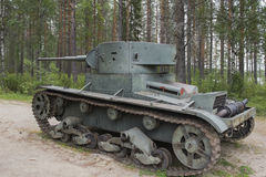 Tank. Old disused tank in Eastern Finland royalty free stock image