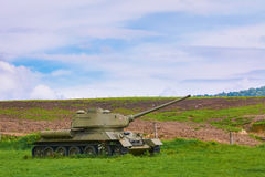 Tank op het Gebied stock foto