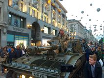 Tank in oxford street Royalty Free Stock Photography
