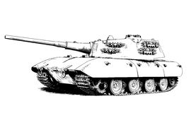The tank is painted with ink by hand Stock Photography