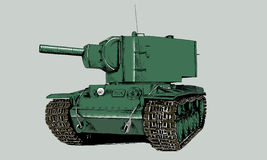 The tank is painted with ink Royalty Free Stock Photography