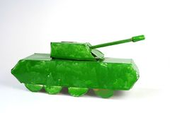 Tank from paperboard. One toy Royalty Free Stock Photography