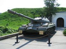 Tank in a park Stock Photography