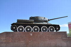 Tank on the pedestal. Royalty Free Stock Photos