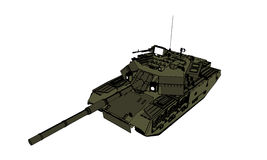 Tank perspective view. Ready for battle to world war Royalty Free Stock Photo