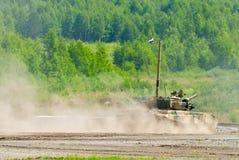 Tank platoon in action. Russia Stock Photos