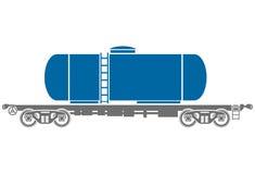 Tank Railway freight car - Vector illustration Royalty Free Stock Image