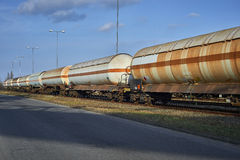 Tank railway for the transport of sulfuric acid Royalty Free Stock Photography