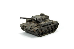 Tank. Retro tank replicas are small Royalty Free Stock Photo