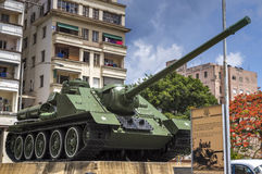 Tank at the Revolution Museum in Havana, Cuba. Commemorative tank at the Revolution Museum in Havana, Cuba stock photo