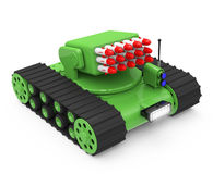 Tank with rockets Royalty Free Stock Images