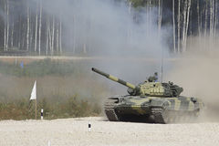 Tank on a route. Royalty Free Stock Photos
