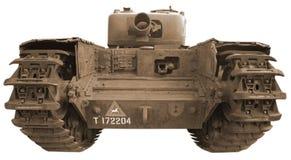 Tank in sepia Stock Afbeelding