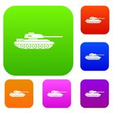 Tank set collection. Tank set icon in different colors isolated vector illustration. Premium collection Royalty Free Stock Photo