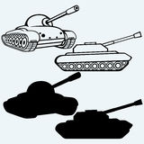 Tank. Set of military vehicles Stock Photos