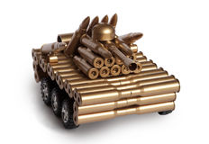 Tank from shells Royalty Free Stock Image