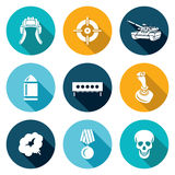 Tank shooting Icons Set. Vector Illustration Stock Photography