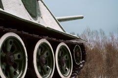 Tank in snow Stock Image