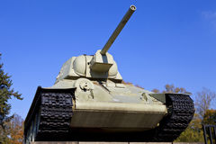 Tank at the Soviet War Memorial in Berlin Stock Images