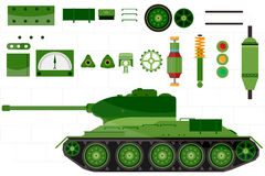 Tank spare and  parts tank. vector Stock Images