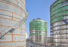 Tank Storage in construction yard Royalty Free Stock Photography
