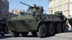 Tank in street in Saint Petersburg Stock Photo