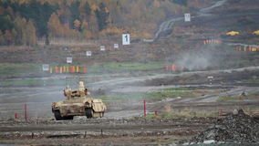 Tank support combat vehicle stock video footage