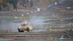 Tank support combat vehicle stock video