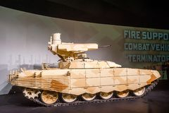Tank Support Fighting Vehicle  Royalty Free Stock Photos