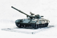 Tank swept snow. Stock Photo