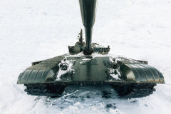 Tank swept snow. Stock Image