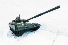 Tank swept snow. Royalty Free Stock Images