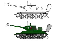 Tank t 34 Stock Photos