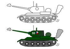 Tank t 34. Coloring book Stock Photos