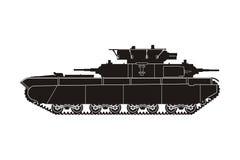 Tank t-35-4 Stock Afbeelding