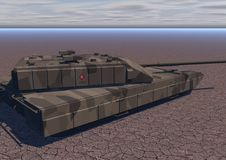 Tank T2 (desert) Royalty Free Stock Image