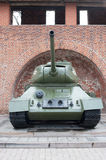 Tank T-34 front view Stock Images
