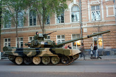 Tank T-90, Rostov-on-Don. Russia, April 28, 2010 Preparing for Victory Parade Stock Image