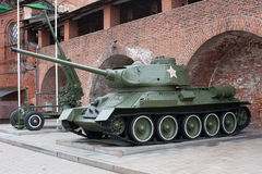 Tank T-34 Russian tank of the Second World War Stock Photo