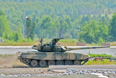 Tank T-80s in motion Stock Photography