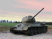 Tank T 32 Soviet combat weapon of WWII Stock Photography